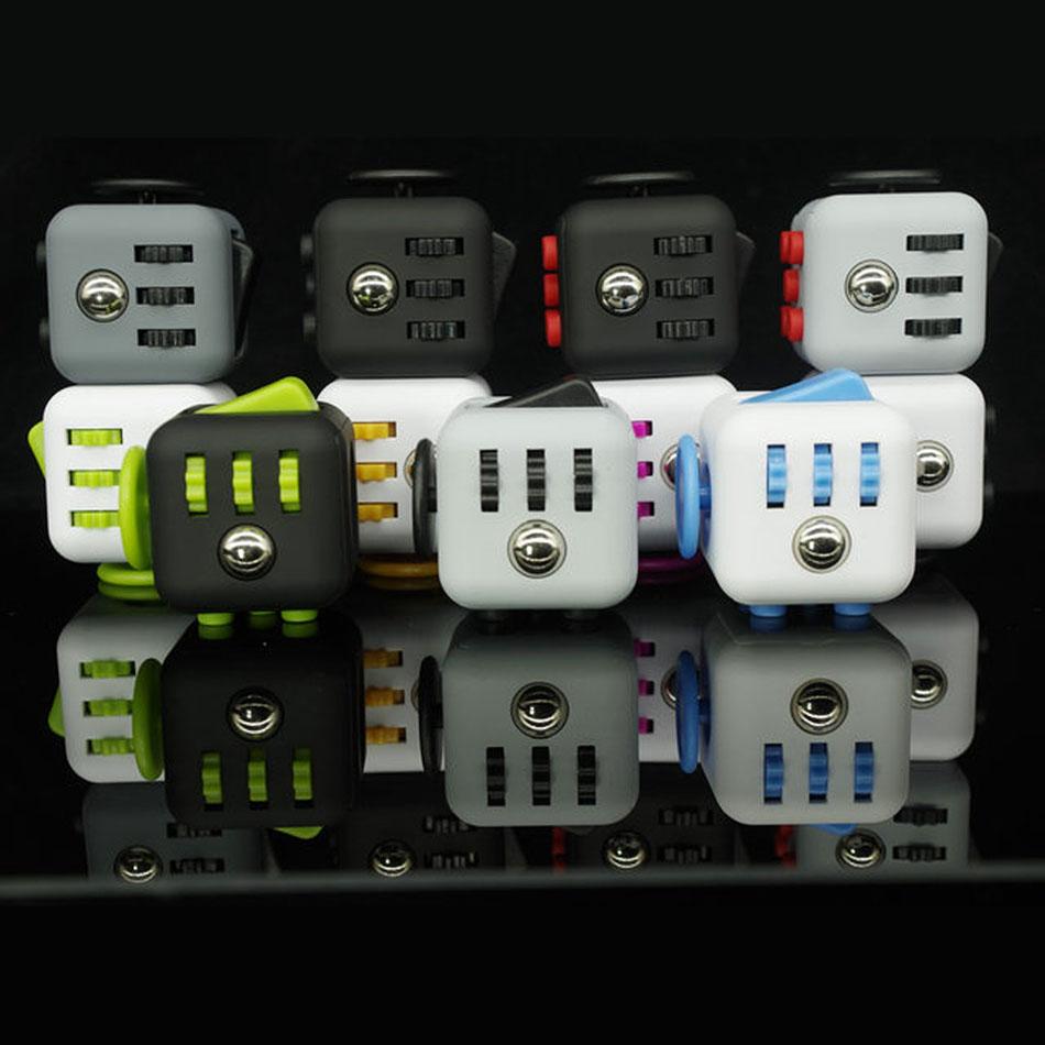 11 Types Squeeze Stress Reliever Fidget Cube 2016 New PC Vinyl Fidgetcube Game Toy kickstarter Fidget Toys Best Christmas Gifts