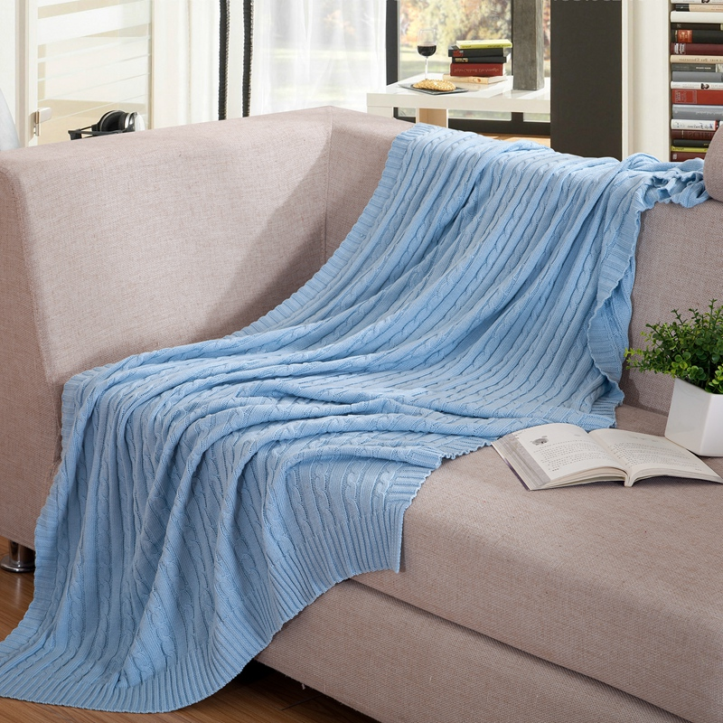 110x180cm 100 Cotton Knitted Blanket Brand Soft Sofa Blankets Summer Air Conditioning Quilt