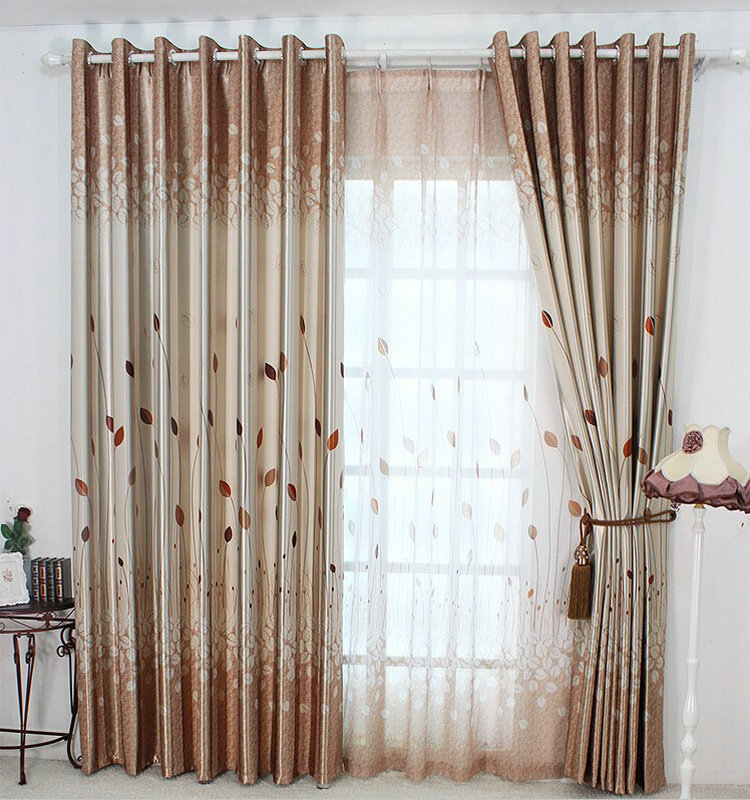 Luxury sheer curtain organza tulle panels decor blackout - Rideau chambre a coucher ...
