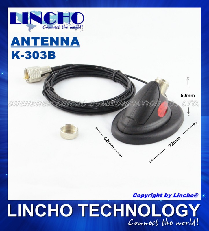 K-303B super good quality car radio antenna mini magnetic mounting base 4 meters rg316 teflon coaxial cable, PL259 connector(China (Mainland))