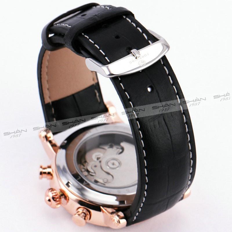 Победитель Мужские Автоматические Механические Часы Черный Кожаный Ремешок Большегрузных Случае суб-набор Бизнес Vogue + Коробка