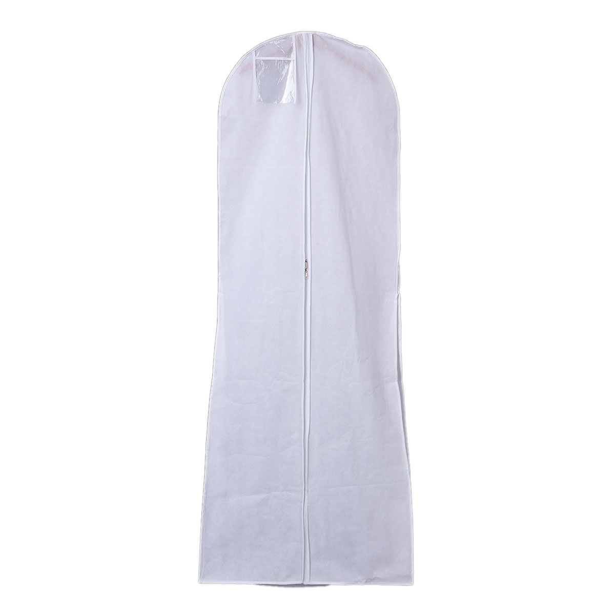 GSFY-Hanging Wedding Dress Bridal Gown Garment Cover Storage Bag Carry Zip Dustproof White(China (Mainland))