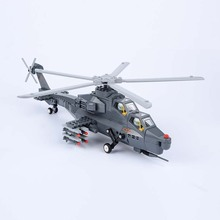 Intellectual Development For Children! Building Blocks 304PCS Fiery Thunderbolt Helicopter Gunships Free Shipping