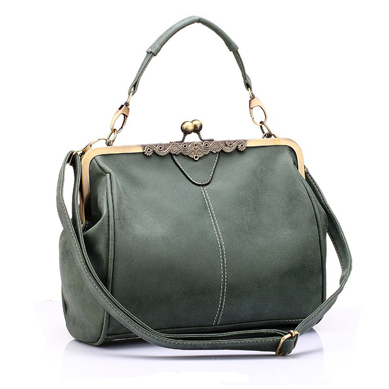 New Famous Brand Vintage Bags For Women PU Leather Tote Bag Women Messenger Bags Small Green Clutch Ladies Shoulder Handbags(China (Mainland))