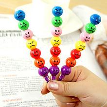 Мелки для детей Maped школьные принадлежности C095 корейской версии мультфильма смешное лицо покрытием хос 7 карандаш для граффити ручка