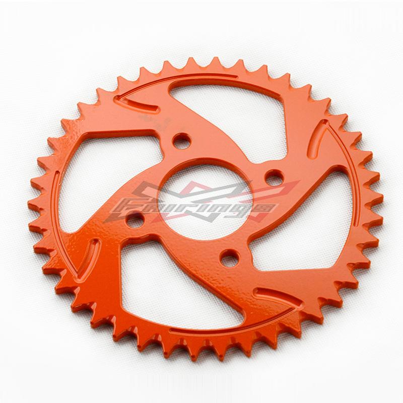 FREE SHIPPING CNC Orange Aluminium REAR SPROCKET 42T Fit for  KTM DUKE 200 O3<br><br>Aliexpress