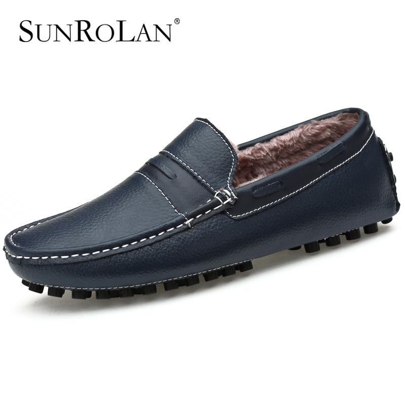 Гаджет  Plush velvet winter men driving shoes soft genuine leather men loafers zapatos hombre cow split men dress shoes moccasins 9009 None Обувь