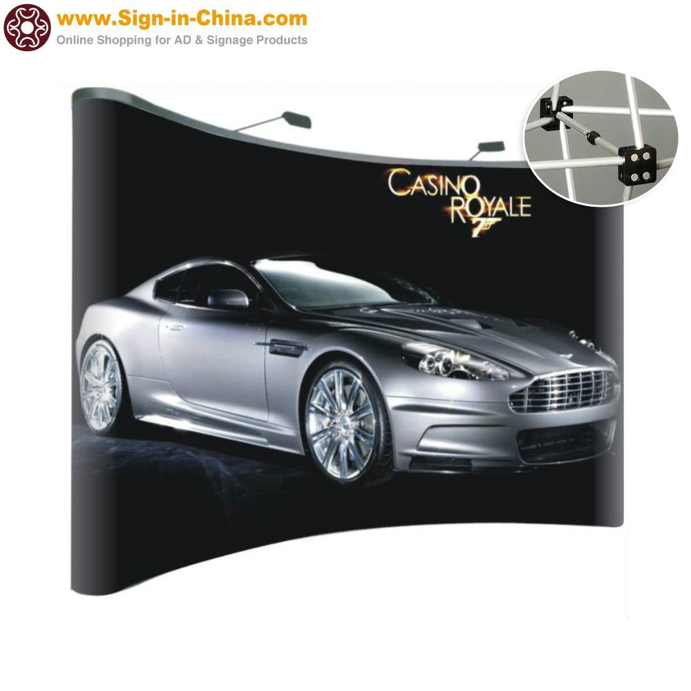 10ft Curved Pop Up Display Stand /Pop Up (Frame only-Magnetic Connections)(China (Mainland))