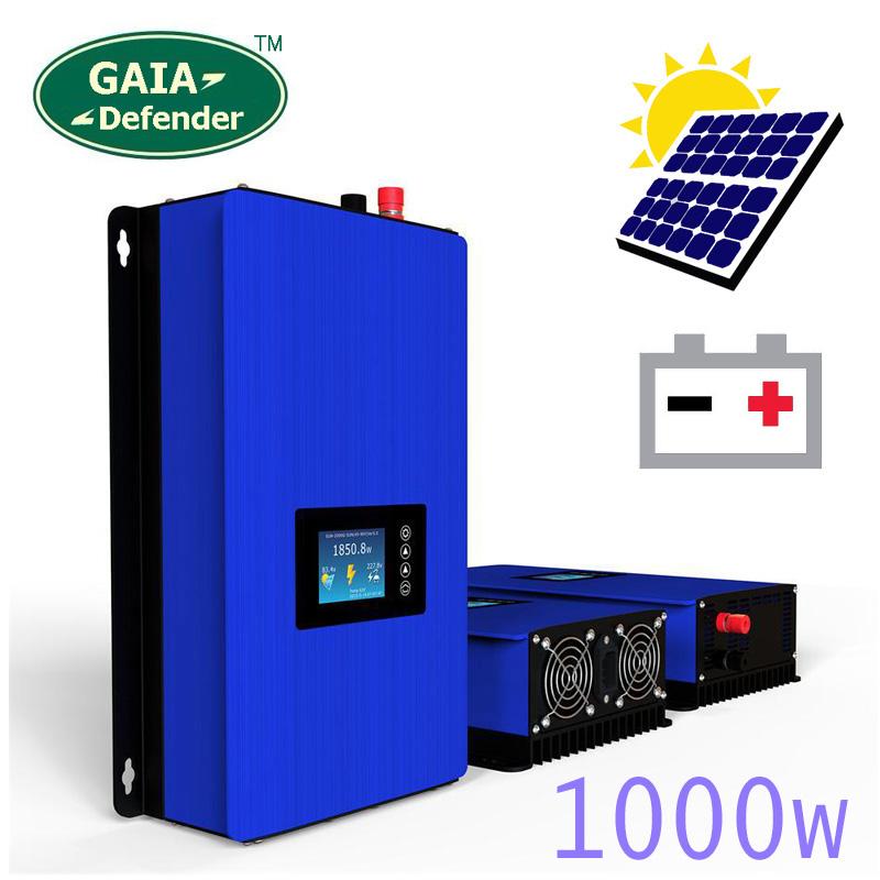 1000W Battery Discharge Power Mode/MPPT Solar Power Grid Tie Inverter DC 22V-60V or 45V-90V Display second generation(China (Mainland))