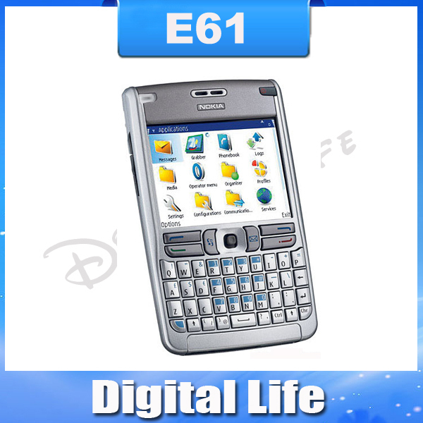 E61 Original Nokia E61 Mobile Phones 3G WIFI Bluetooth JAVA Unlock Cell Phone Free Shipping In Stock!!!(China (Mainland))