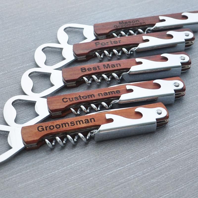 Personalized Multi Tool Opener Groomsmen Gifts Wine Bottle Opener Wedding Favors custom bottle opener best man