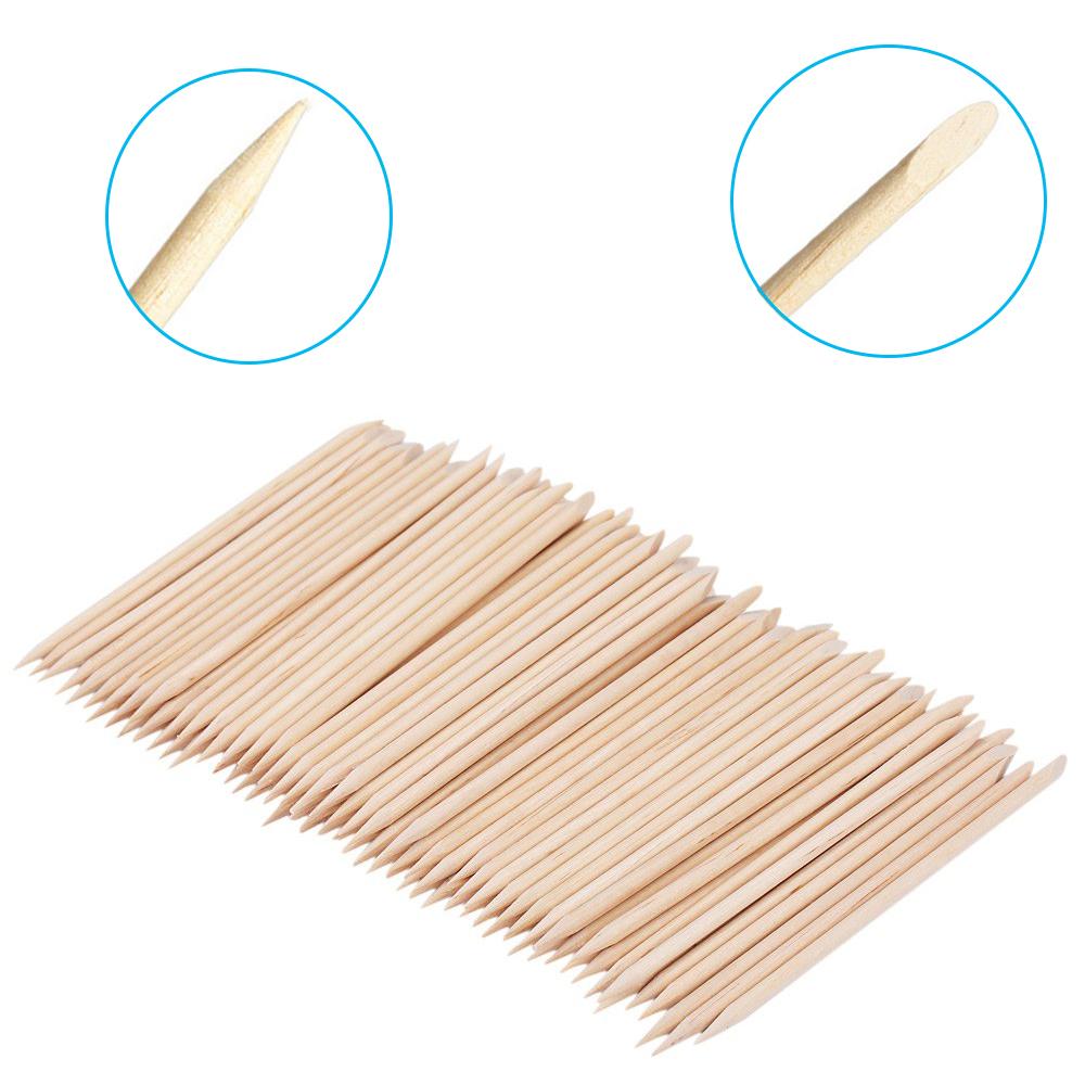 100 Pcs / Lot Nail Art Orange Wood Stick Finger Dead Skin Push Nail Cuticle Pusher Manicure Pedicure Care Tool(China (Mainland))