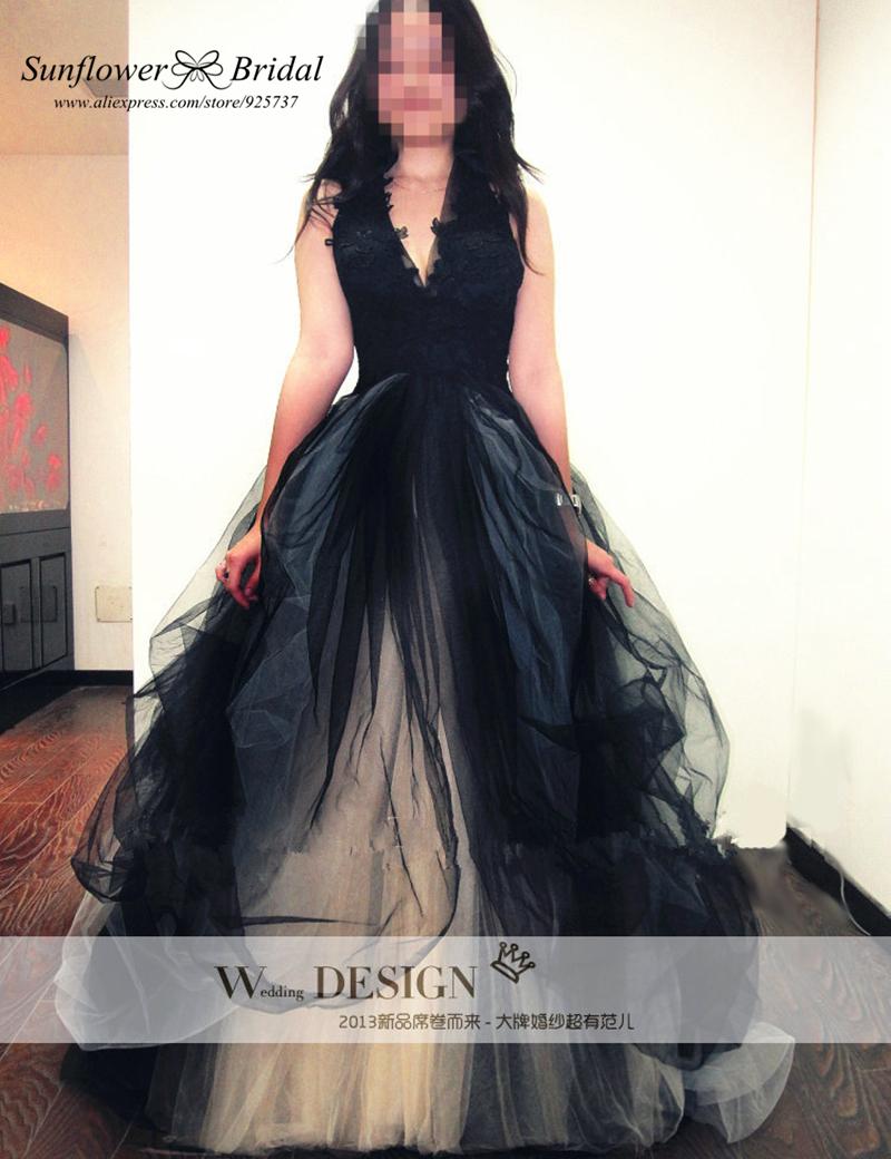 Plus Size Gothic Black Lace Wedding Dress | Dress images