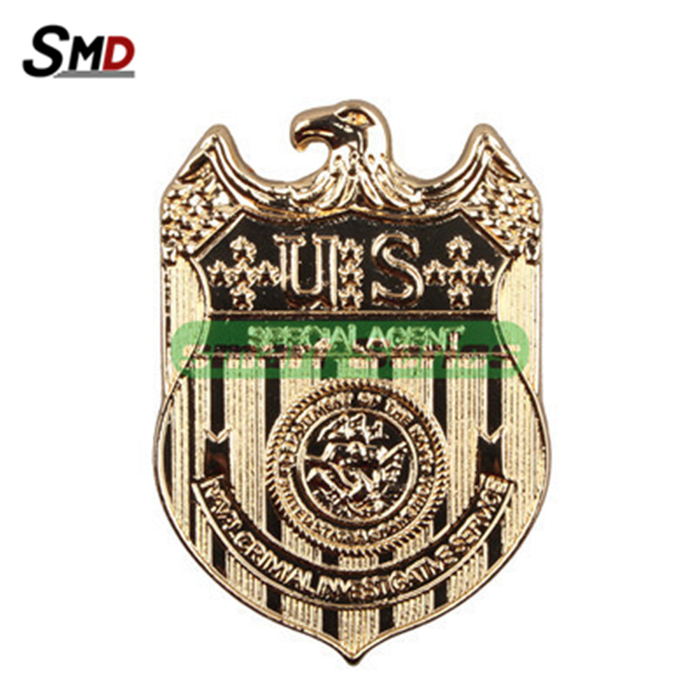 NCIS Badge Full Metal Gold Plated Replica Waist Pin 18K Stylish accessories - Magical Toys' Family store