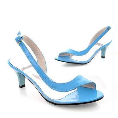 7 colors BIG size 34-46 sexy women sandals open toe slingback high heels ladies summer party wedding shoes woman <br><br>Aliexpress