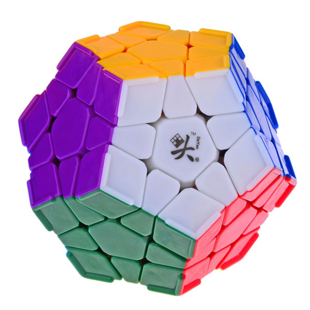 Brand New Da Yan Megaminx Dodecahedron Stickerless Magic Cube with Corner Ridges Speed Puzzle Cubes Toys for kid Child