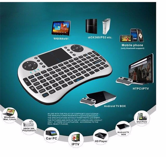 P 2 in 1 Russian Mini i8 2.4G Wireless Gamepad Air Keyboard Mouse Combos Controller PC Google Android Smart Touch for TV Box