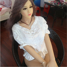 165cm high quality real silicone adult sex doll with skeleton for man oral sex anal sex vagina for men(China (Mainland))