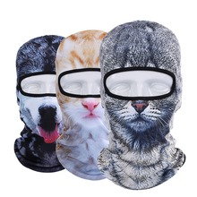 New 3D Cat Dog Animal Outdoor Bicycle Bike Cycling Motorcycle Sports Ski Hats Balaclava Hood Halloween Helmet Full Face Mask(China (Mainland))