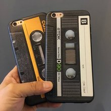 Classic Cassette Tape Silicone Case for Iphone 6 6s cassette silicone case Free shopping(China (Mainland))