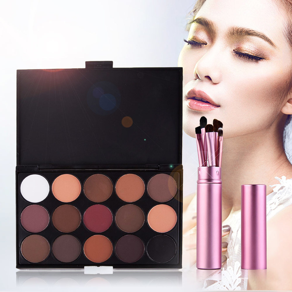 15 Color Professional Natural Pigment Matte Eyeshadow Set for Women Make Up Palette Cosmetic Makeup Eye Shadow Palette