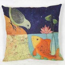 Nordico Style Fish/Bird Sofa Pillow Case Cushion Covers
