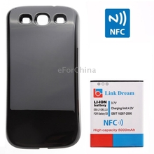 Link Dream High Quality 5000mAh Mobile Phone Battery with NFC & Cover Back Door for Samsung Galaxy SIII / i9300 (EB-L1G6LLU)