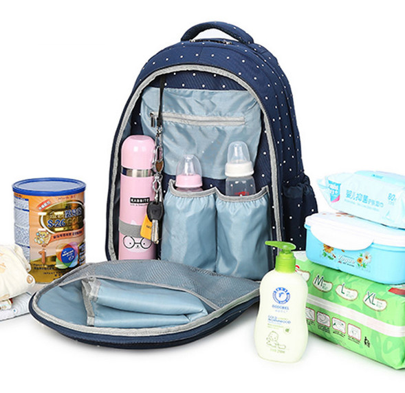 NEW multifunction nylon baby stroller bag Mummy diaper bag fashion mother backpack diaper bags waterproof handbag QM1495(China (Mainland))