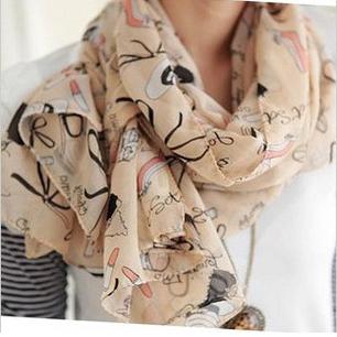 ( Минимальный заказ $ 10 ) новый корейской мода диких помаду каблуки большой размер шелковые шарфы темперамент элегантные дамы солнце платки