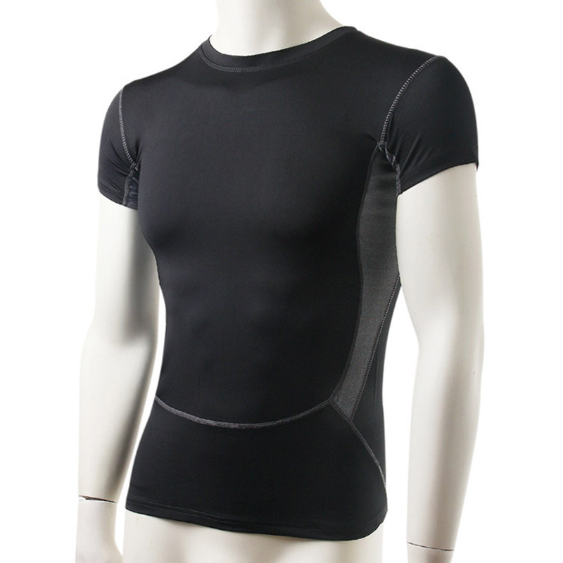 Buy men compression shirts spandex elastic breathable for Shirts and skins basketball