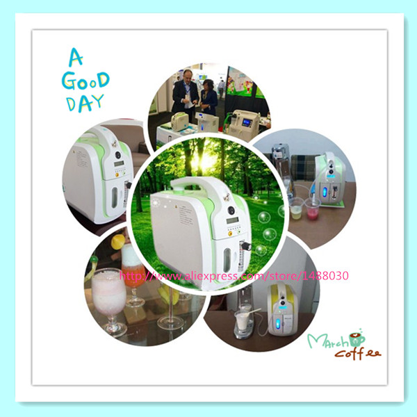2016 CE Approved Oxygen Cocktail Machine Portable Oxygen Concentrator+Cocktail Mixer Chrome Cocktail Shaker Free Shipping(China (Mainland))
