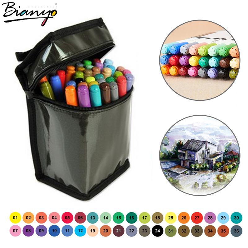 Гаджет  Bianyo Water color pen brush Marker Highlighter Stationery Copic Marker Pen Set For Drawing Painting Sketch Cartoonist Supplies None Офисные и Школьные принадлежности