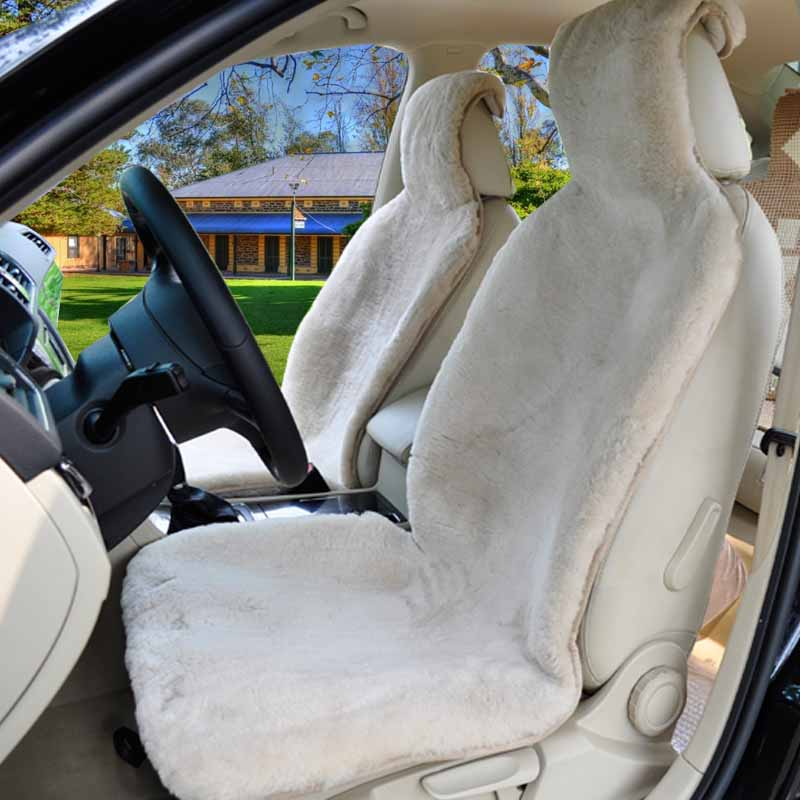 1pc 100 natural fur australian sheepskin car seat covers universal size for one front seat. Black Bedroom Furniture Sets. Home Design Ideas