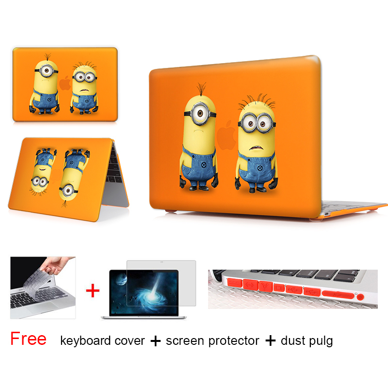 Despicable Me Minions Print Laptop Sleeve For Macbook air 12 13.3 11.6 Case Hard Cover Mac Book Pro 13 15 inch Retina Display(China (Mainland))