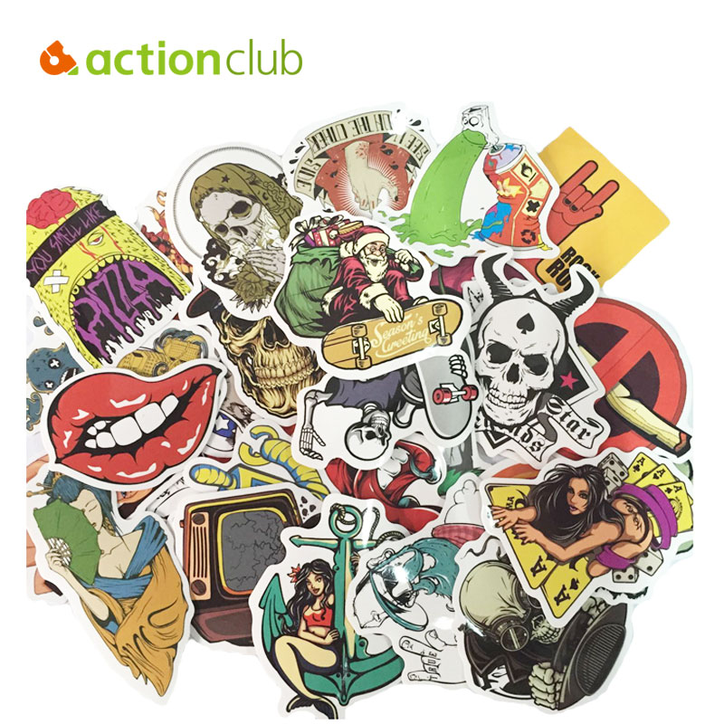 Actionclub 100 Pcs Random Mixed Stickers Home Decor Motorcycle Car Laptop Suitcase Bike Sticker Kids Sticker Kids DIY Toys(China (Mainland))