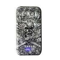 2016 New fashion Skull power bank with LED Light for Iphone  real 6000mah capacity External Battery  for Andriod phones