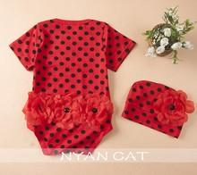 infant-clothing summer baby girl clothes cute short sleeve newbron girls rosherun bodysuit floral cotton dot jumpsuit