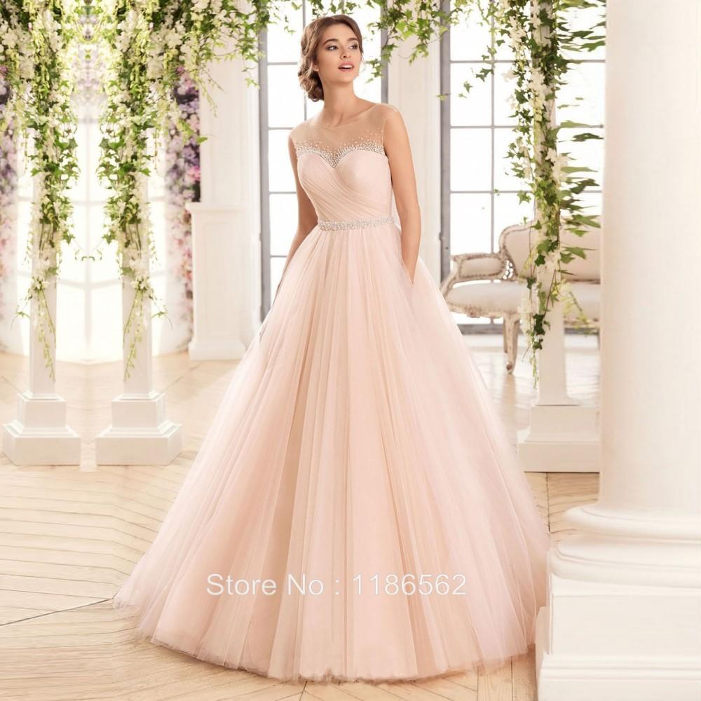 Champagne Pink Wedding Dress - Wedding Dress Ideas