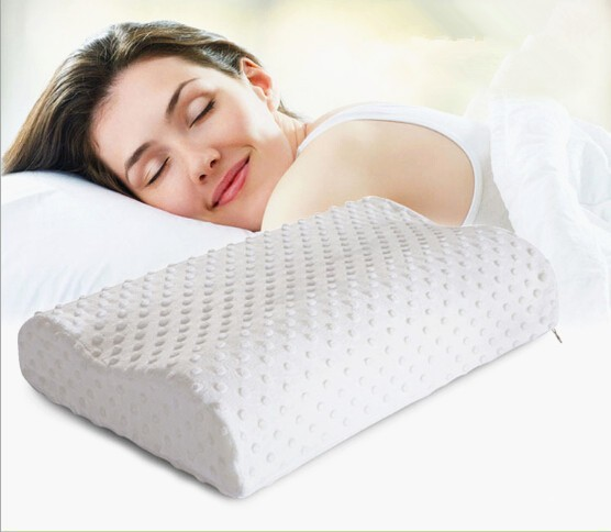 2015 Orthopedic Neck Pillow Fiber Slow Rebound Memory Foam Pillow Cervical Health Care Free Shipping(China (Mainland))