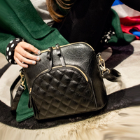 Spring and summer women's trend handbag shell bag plaid messenger bag female popular mobile phone bag