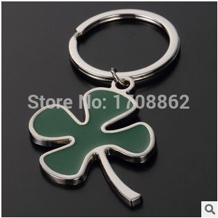 New Design novelty items fashion trinket Clover key chain ring creative jewelry charms metal bag key holder gift<br><br>Aliexpress