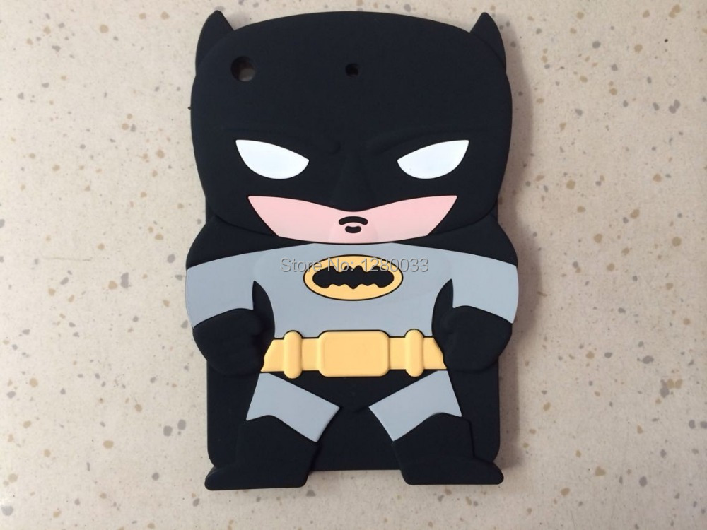 3D Rubber Blue Black Batman Soft Silicone Case iPad Mini 1 2 - Orange Mobile store