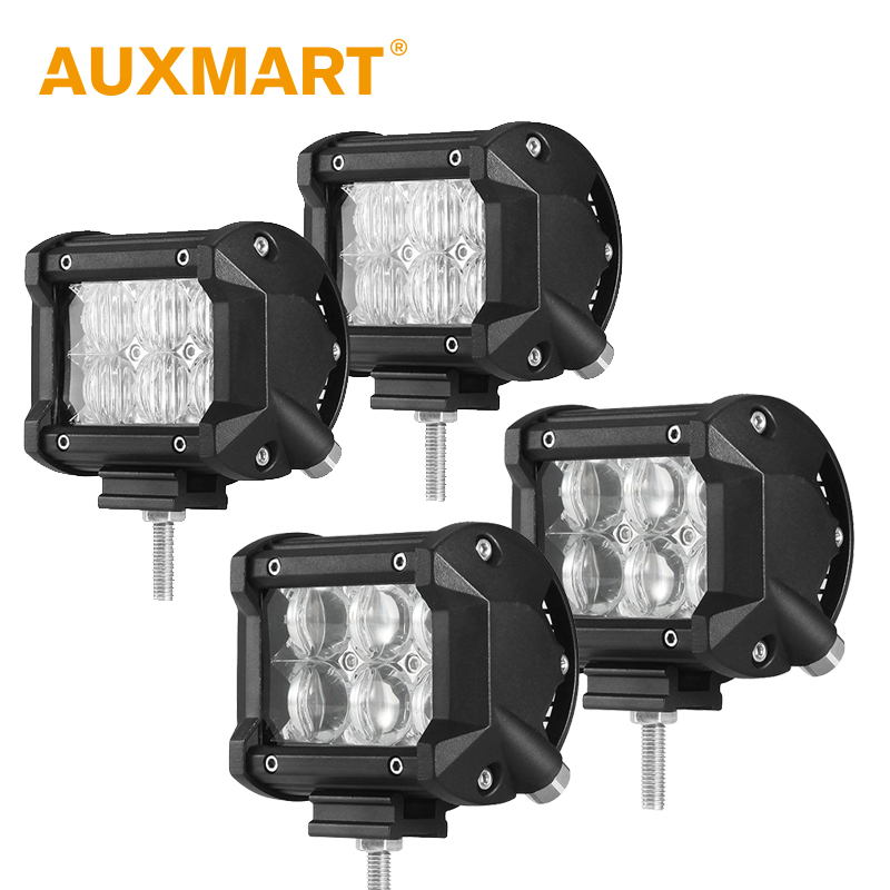 Auxmart 4 inch 30W LED Work Light Bar 5D Flood Spot Beam Fit 12V 24V Motorcycle Bike Off-road Driving Vehicle ATV SUV Barra Boat - Way Store store