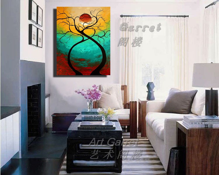 Buy 100 Hand Painted Modern Abstract Oil Painting Canvas