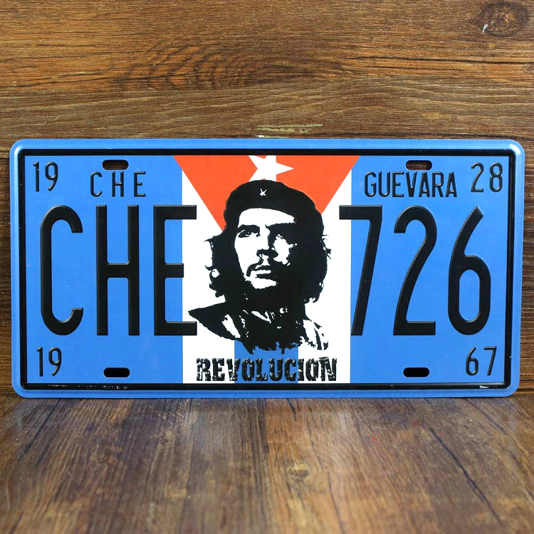 License car plate metal Tin signs garage poster CHE 726 Art wall art decorative House Bar Cafe 15*30 CM Free shipping YT-00901(China (Mainland))