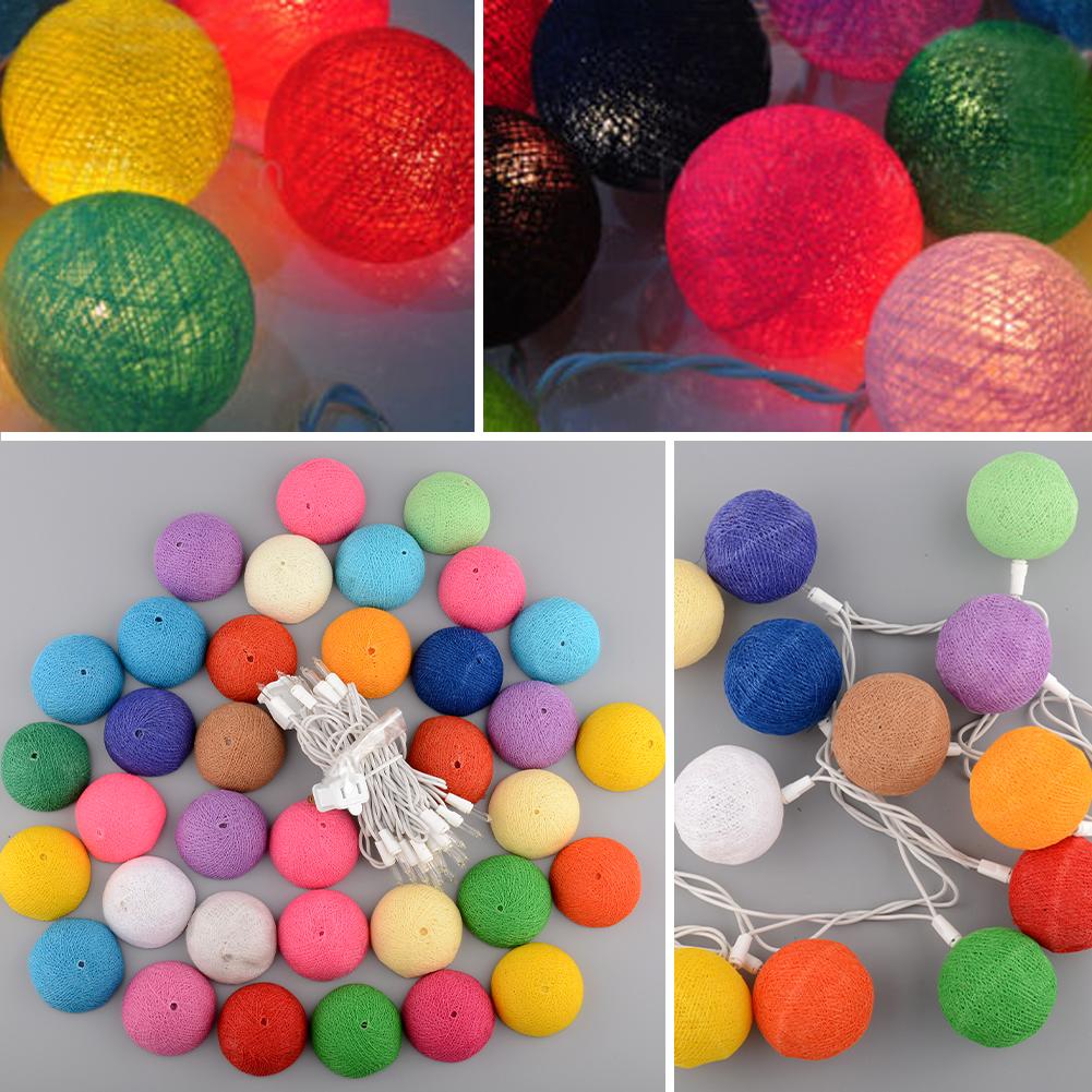 3 M 20 Led Multicolore Bande Coloré Aladin Main Durable Coton Boule Guirlande Lumineuse Pour la Fête De Noël Décoration Décor À La Maison(China (Mainland))
