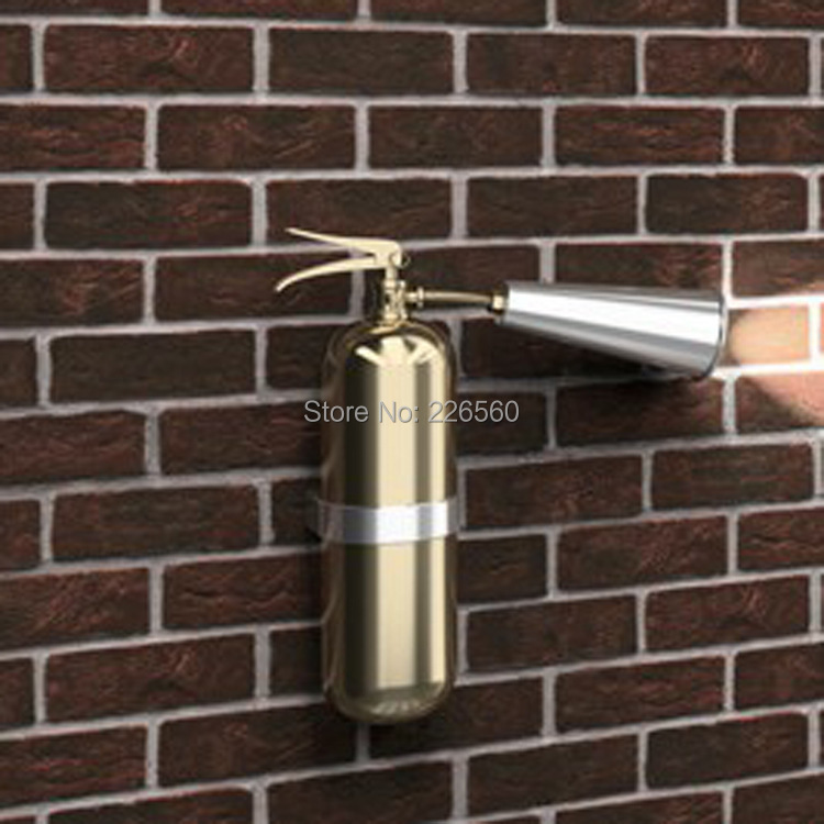 Free Shipping 1 Piece Novelty Fire Extinguisher Lamp Wall-Hanging Charging Light(China (Mainland))