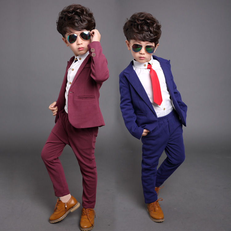 BEIBEI Children Suit Baby Boys Suits Kids Blazer Boys Formal Suit For Wedding Boys Clothes Set Jackets Blazer+Pants 2pcs 3-12Y(China (Mainland))