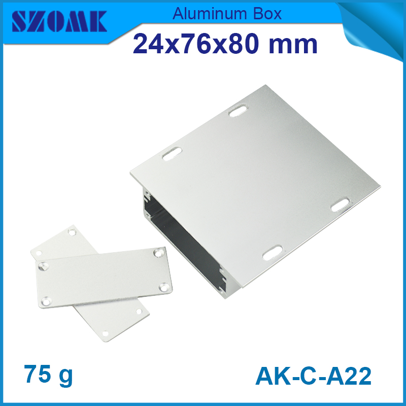 1   piece     , silvery    24*76*80mm  0.94*2.99*3.15inch    top sales powder coating aluminum enclosure<br><br>Aliexpress