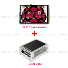 """Best Price Original 3.5"""" LCD TFT Touch Screen Display for Raspberry Pi 2 Model B Board + Acrylic Case + Stylus Free Shipping(China (Mainland))"""